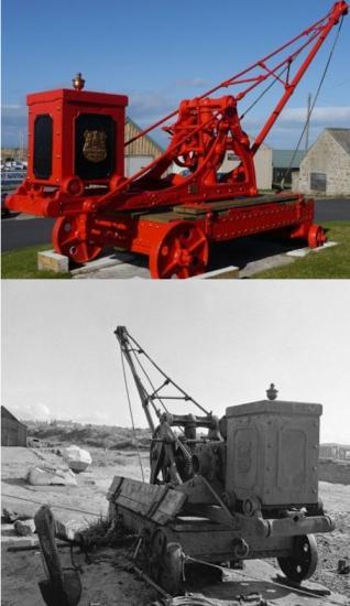 Photograph of Restored Crane Was Once At Wick Harbour 1880 - 1925