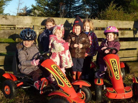 Photograph of Bower Busy Bees Get Active With New Go-Karts