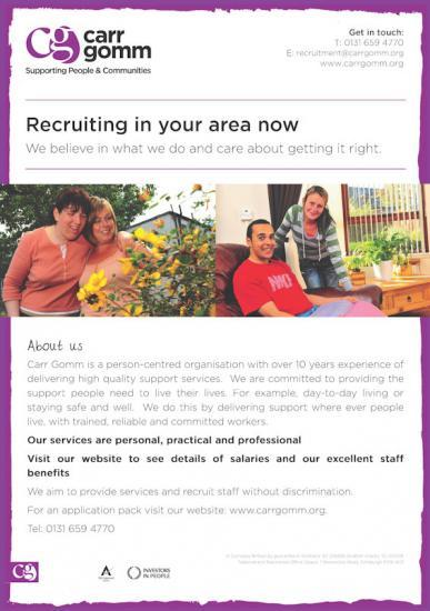 Photograph of Carr Gomm Recruiting In Caithness and Other Areas