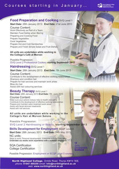 Photograph of New Courses Starting At North Highland College