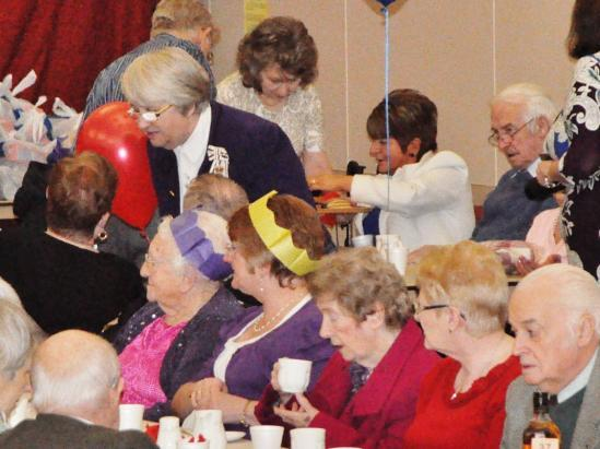 Photograph of PENSIONERS PARTY WAS A 'REEL' TREAT