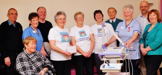 Photograph of Donation from Castletown woman is pleasant suprise for heart support group