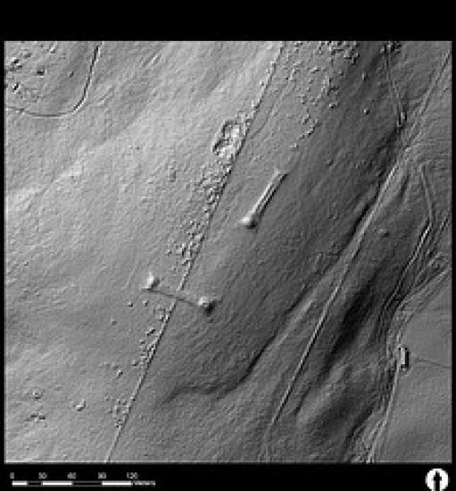 Photograph of LiDAR Survey Shows Archeaology At Hill Of Shebster Area
