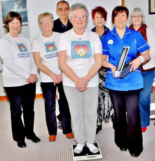 Photograph of Caithness Heart Support Group Donates Digital Scales