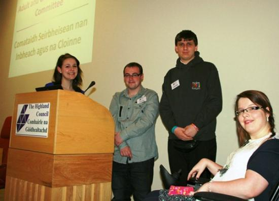 Photograph of Highland youth participation has voice in planning of public services