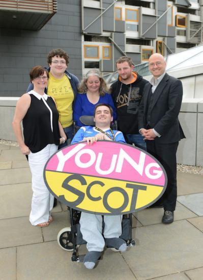 Photograph of DISABLED YOUNG PEOPLE FROM CAITHNESS SHARE IDEAS WITH MSPS