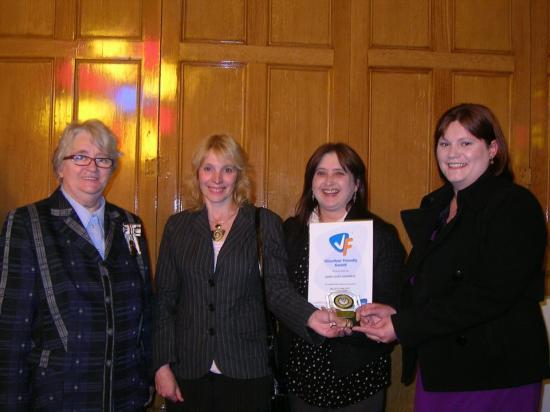 Photograph of HomeStart Caithness Gain Volunteer Friendly Award