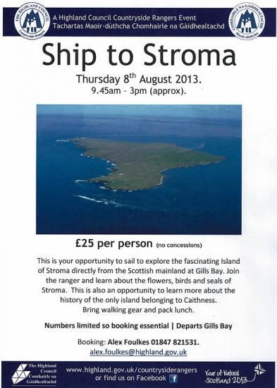 Photograph of Opportunity To Visit Stroma