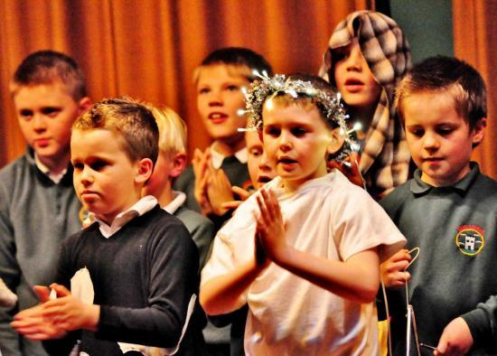 Photograph of Keiss Primary School's Christmas Review