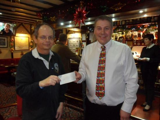 Photograph of Wick RBLS Pipe Band Donation