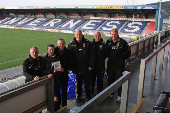 Photograph of Police and partners join with local SPL football clubs as part of domestic abuse campaign