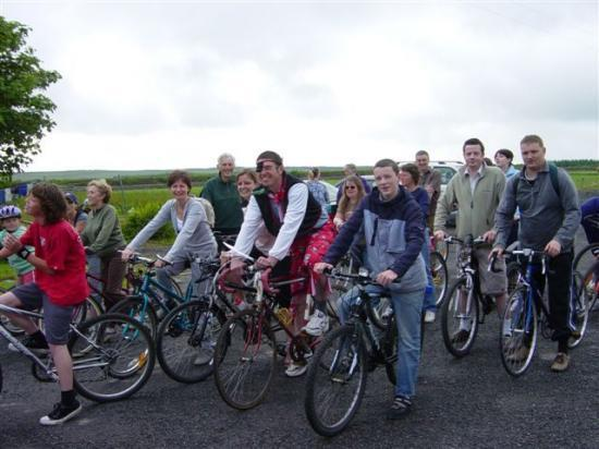 Photograph of Mey Hall Sponsored Cycle Raises �1700 For New Hall Project