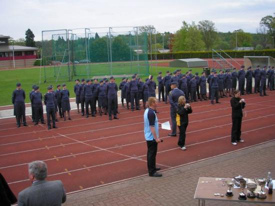 Photograph of Wick ATC Cadets At Highland Wing - Sports Drill and Competitions
