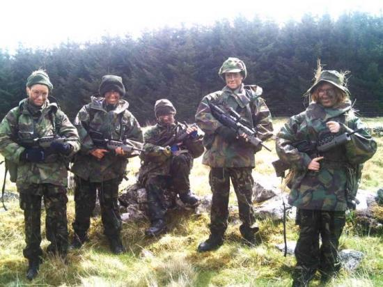 Photograph of Army Cadets On Fieldcraft Weekend At Broubster