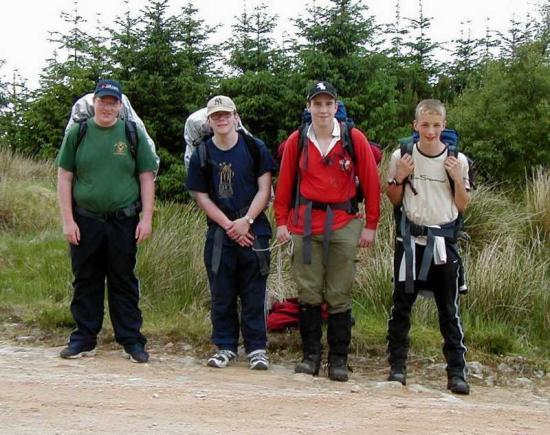 Photograph of Four Cadets On Their Gold Duke Of Edinburgh Award Expedition