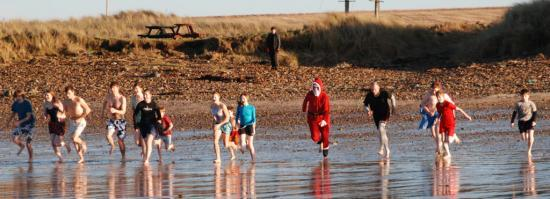 Photograph of New Year's Day Madcap Plunge � Been there Dunnet!