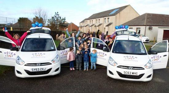 Photograph of NOSCA's New School Run Car Fleet