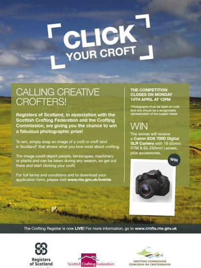 Photograph of 'CLICK YOUR CROFT' - CROFTING PHOTO COMPETITION 2014