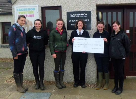 Photograph of Equine Students At North Highland College Raise Funds For World Horse Welfare