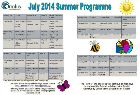 Photograph of Summer Programme at Ormlie