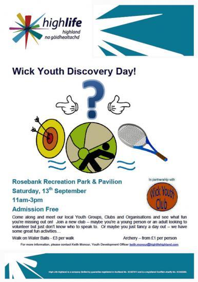 Photograph of Wick Youth Discovery Day