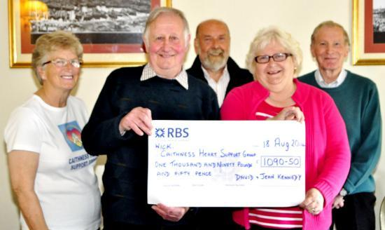 Photograph of Canisbay Couple Celebrate Golden Wedding With Gift To Caithness Heart Support Group