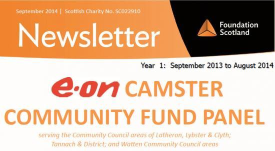 Photograph of e.on Camster Community Fund Panel - Newsletter