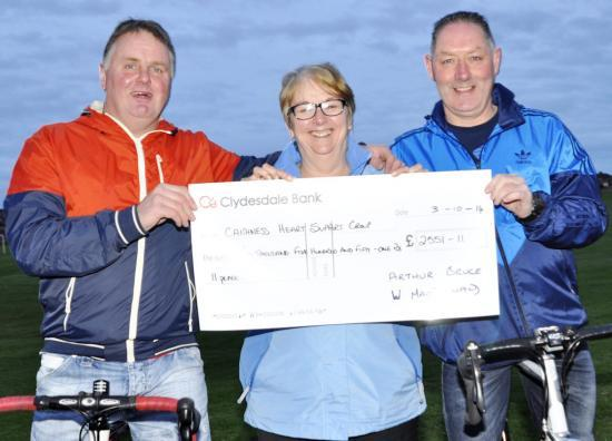 Photograph of Bumper Cheque For Caithness Heart Support Group