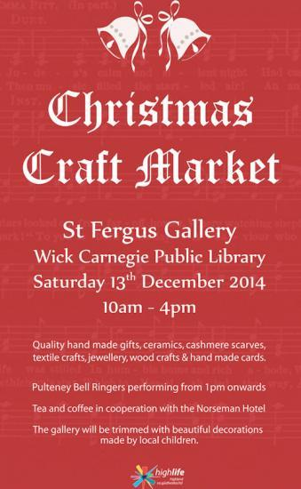 Photograph of St Fergus Gallery, Wick - Christmas Craft Market
