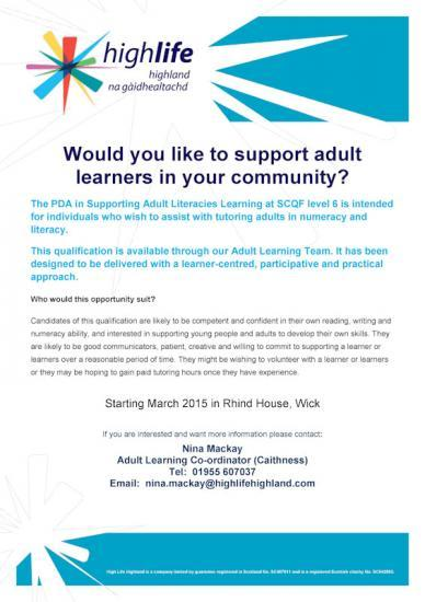Photograph of Would you like to support adult learners in your community?