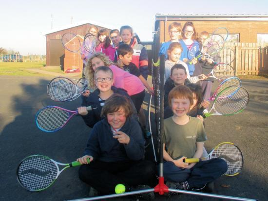 Photograph of Anyone For Tennis Say Thrumster Kids