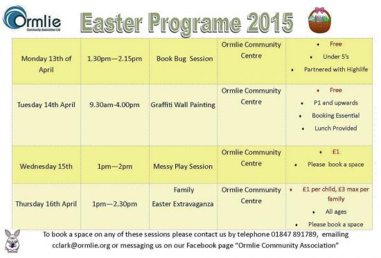 Photograph of Ormlie Community - Easter Programme