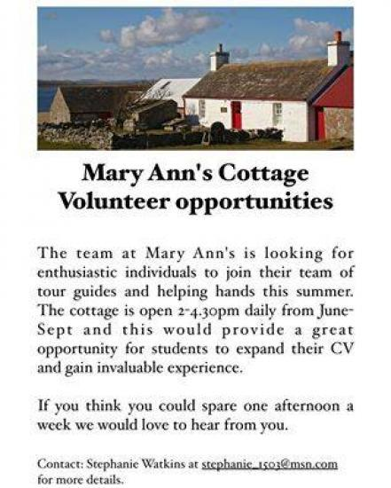 Photograph of Volunteer At Mary Ann's Cottage