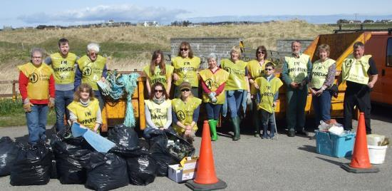 Photograph of Beach Clean and Basking Sharks At Dunnet