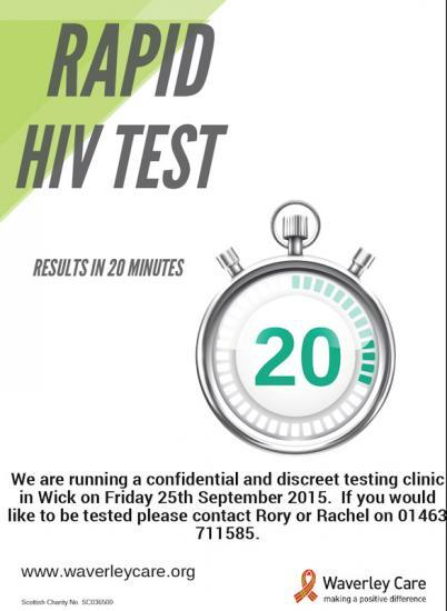 Photograph of Rapid HIV Testing In Wick 25 September