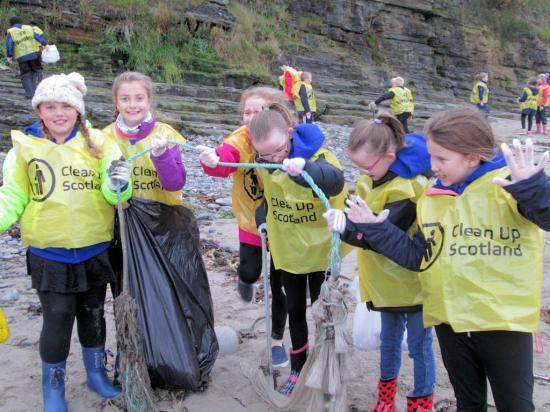Photograph of Local schools join forces during beach clean
