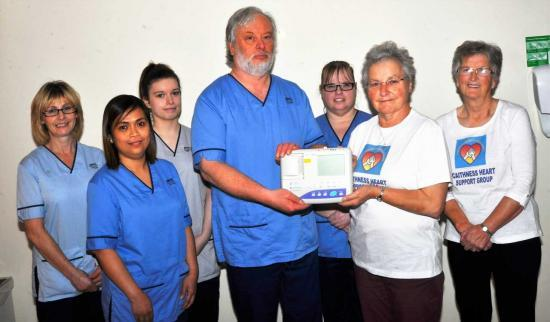 Photograph of New ECG Machine Presented By Caithness Heart Support Group