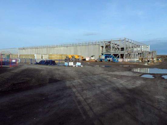 Photograph of Nuclear Archive At Wick Going Up Fast