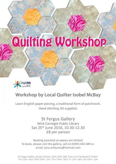 Photograph of Extra Quilting Workshop Due To High Demand