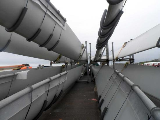 Photograph of Turbines For Lochend Wind Farm Unloaded At Wick Harbour