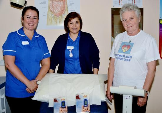 Photograph of Caithness Heart Support Group Donate Equipment