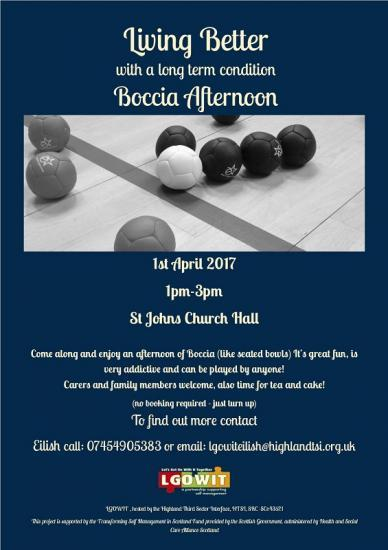Photograph of Boccia Afternoon