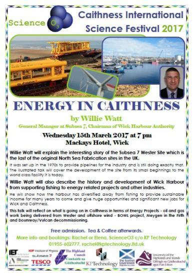 Photograph of Science Festival 2017 - Energy in Caithness