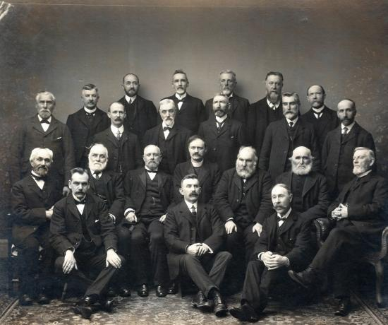 Photograph of Rev. Alfred Coutts and Elders Photo