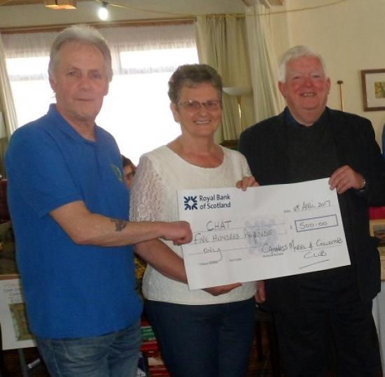 Photograph of Caithness Model Club Donates £500 To Caithness Health Action Team (CHAT)
