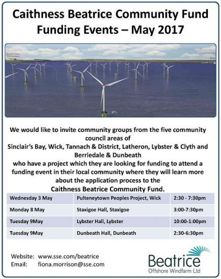 Photograph of Caithness Beatrice Community Fund - Funding Events