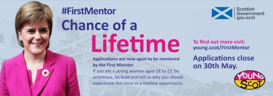 Photograph of Apply Now: First Minister Mentoring Programme - Young Women Aged 18 - 23