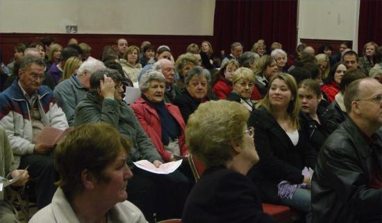 Photograph of Thurso Meeting Packs Town Hall