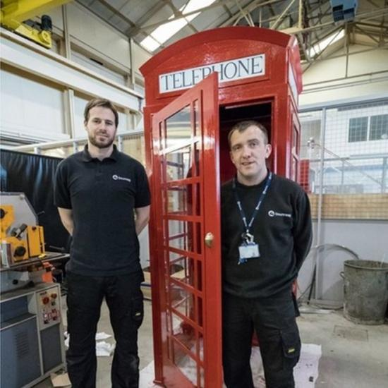 Photograph of Replica Red Phone Box By Dounreay Apprentices For Memory Garden