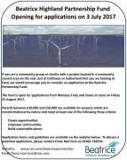 Thumbnail for article : Beatrice Highland Partnership Fund Open For Applications From 3 July 2017